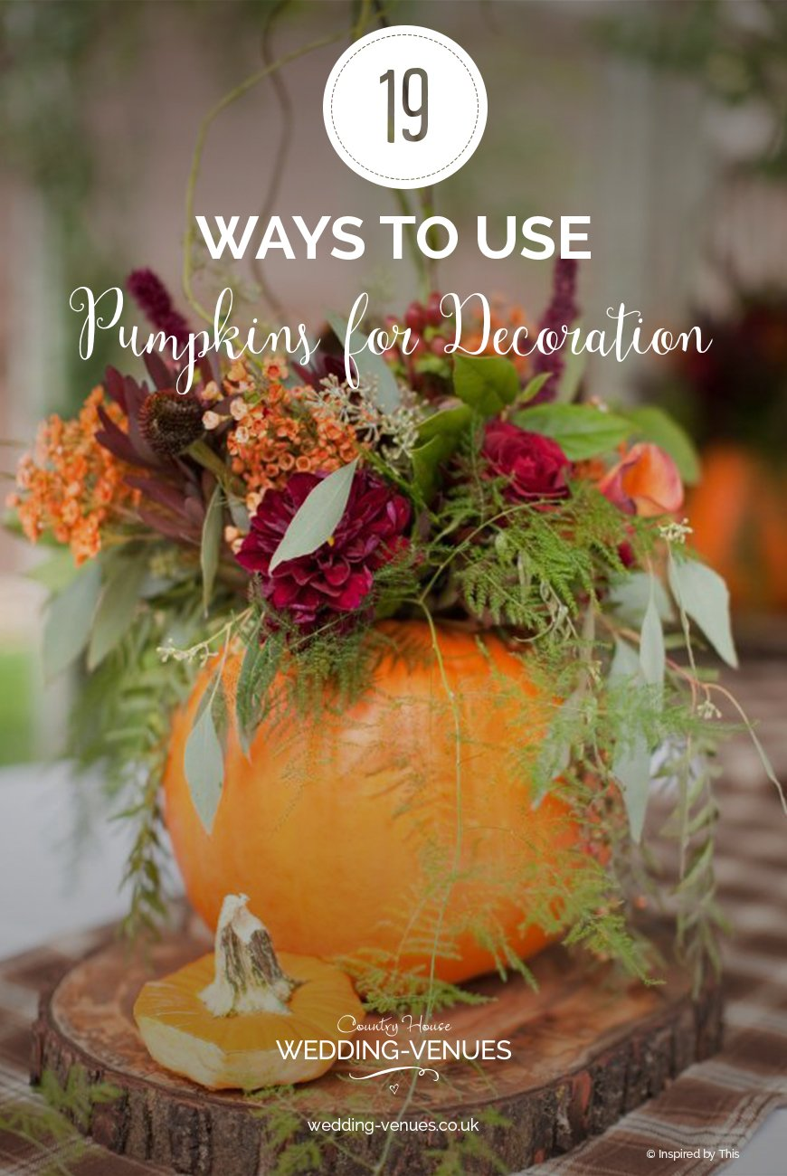 19 Ways To Use Pumpkins For Wedding Decorations | CHWV