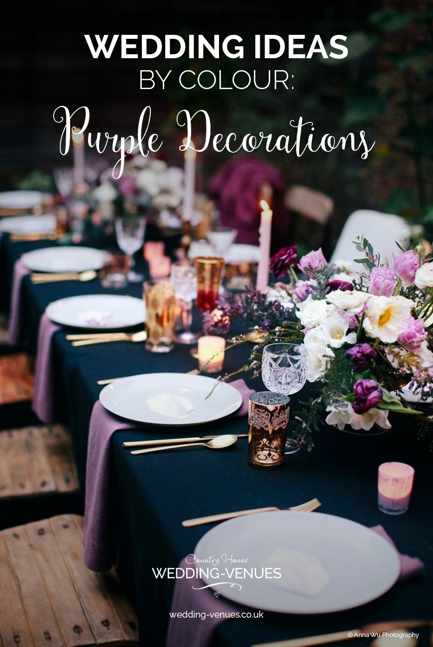 Wedding Ideas By Colour Purple Wedding Decorations | CHWV & Purple Wedding Decorations | Wedding Ideas By Colour | CHWV