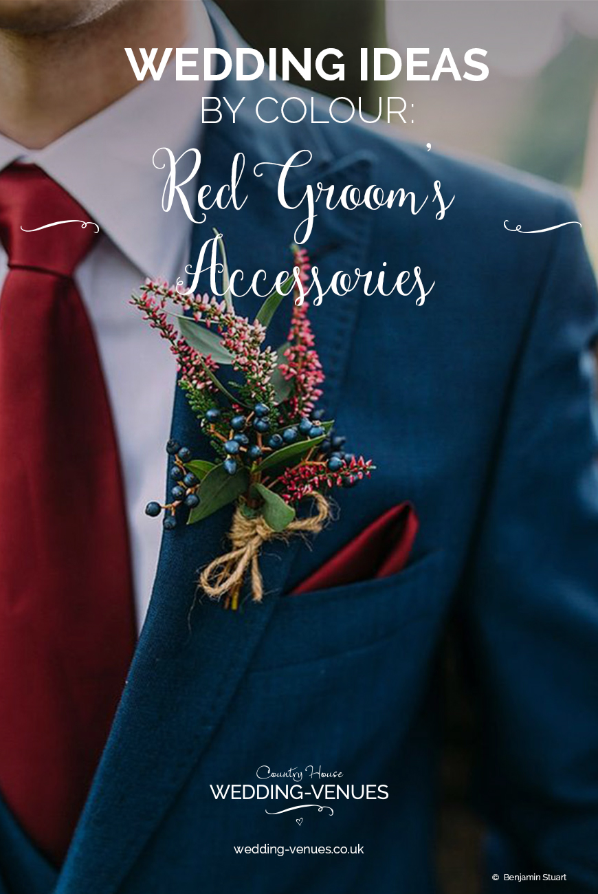 Wedding Ideas By Colour: Red Groom's Accessories | CHWV
