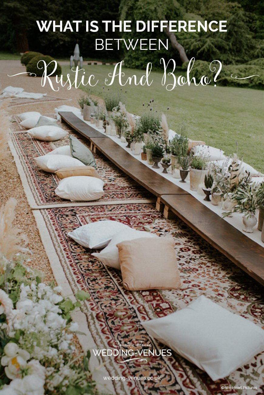 What's The Difference Between A Rustic And Boho Wedding Theme? | CHWV