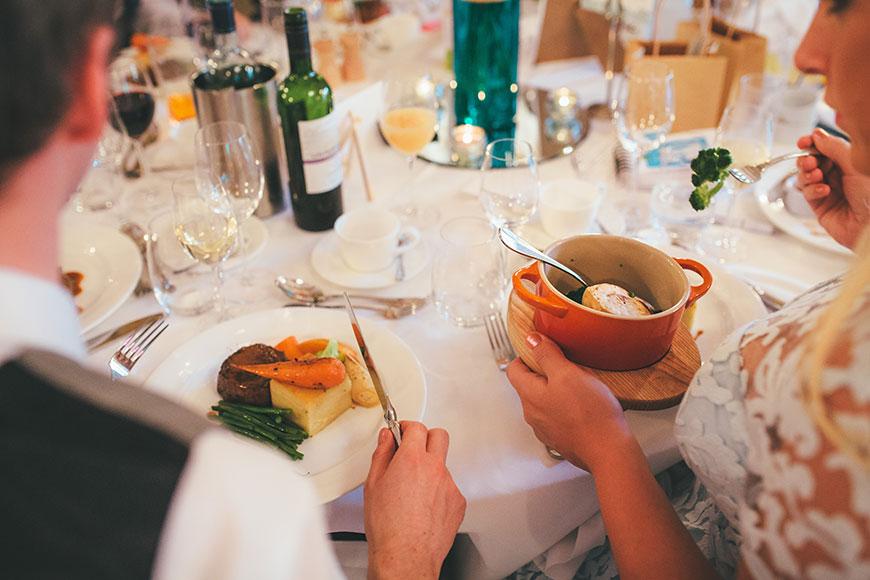 Isobel and Russ Rivervale Barn - Wedding breakfast   CHWV