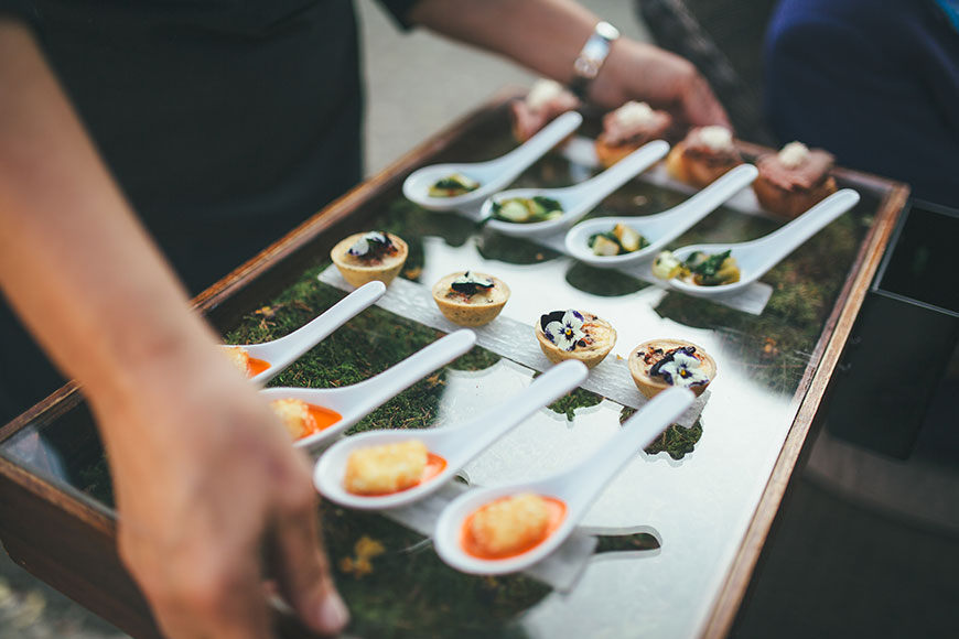 Isobel and Russ Rivervale Barn - Canapes | CHWV