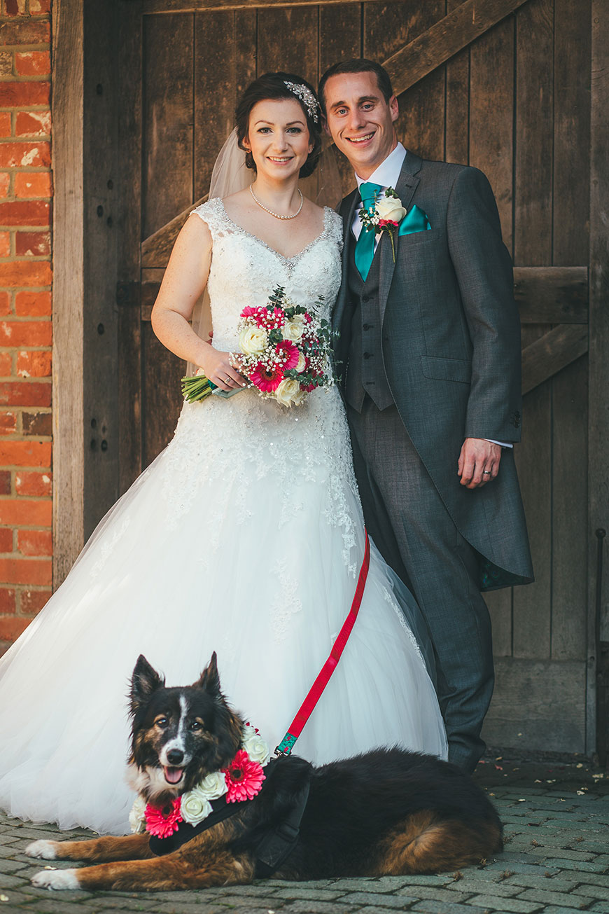 Isobel and Russ Rivervale Barn - With their dog | CHWV