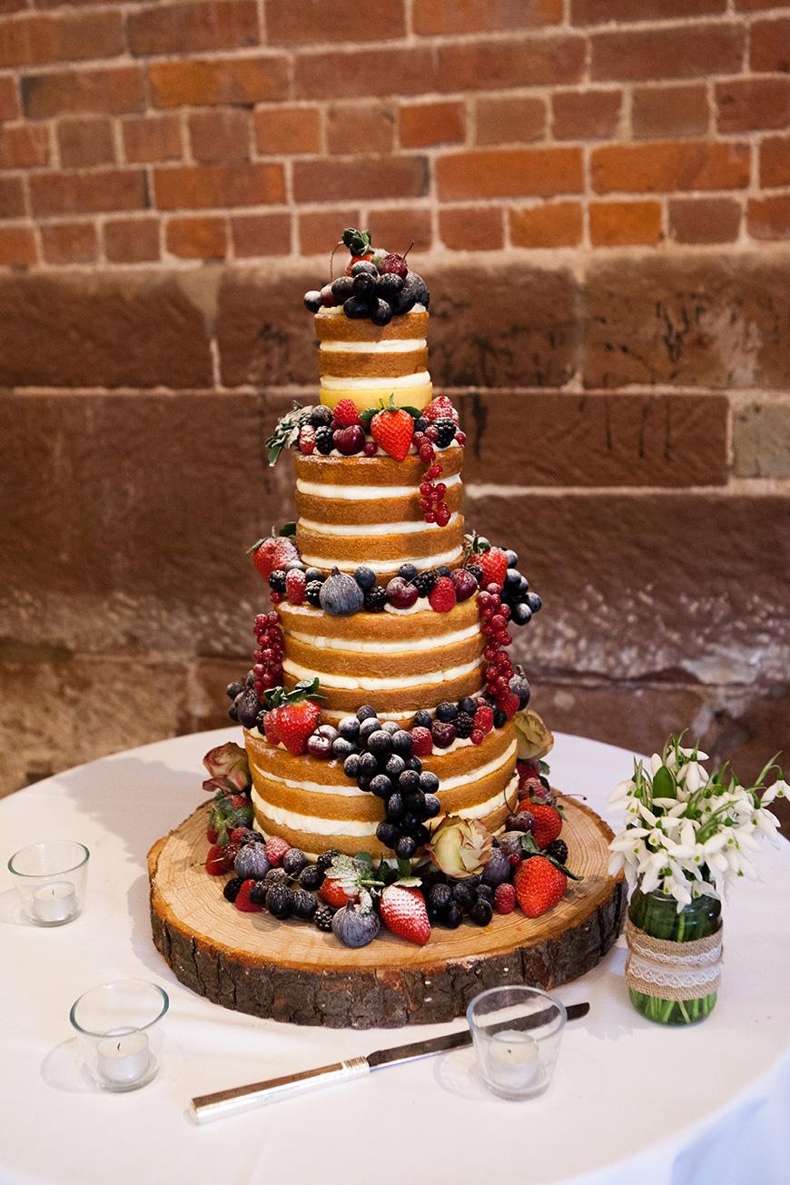 Pretty Pink and Purple Barn Wedding Ideas - Wedding Cake   CHWV