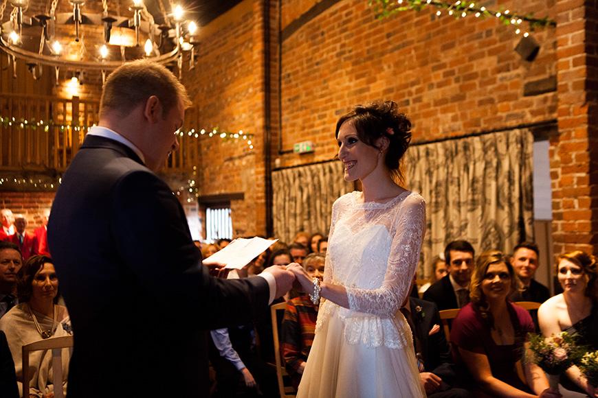 Pretty Pink and Purple Barn Wedding Ideas - Ceremony   CHWV