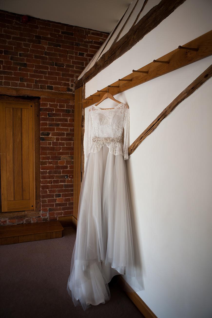 Pretty Pink and Purple Barn Wedding Ideas - Dress   CHWV