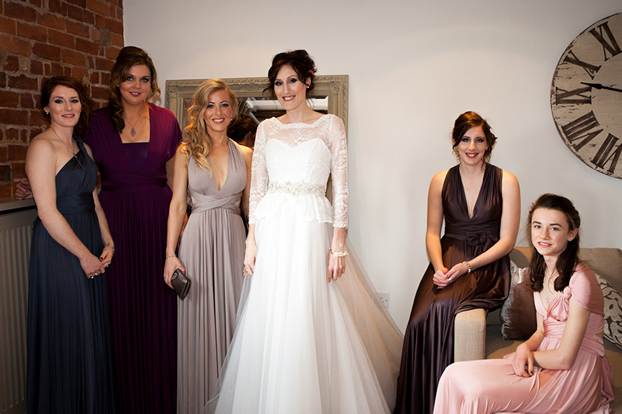 Pretty Pink and Purple Barn Wedding Ideas - Dresses   CHWV