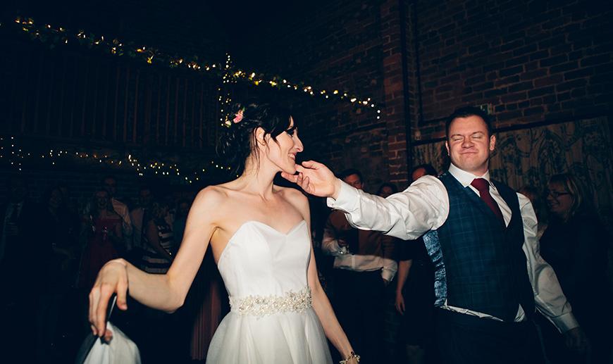Pretty Pink and Purple Barn Wedding Ideas - First dance   CHWV