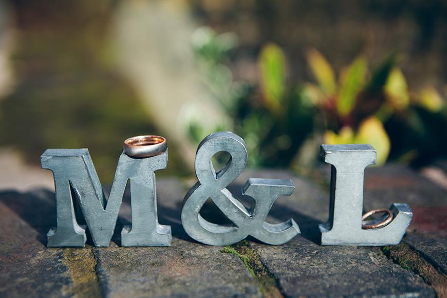 Pretty Pink and Purple Barn Wedding Ideas - Initials   CHWV