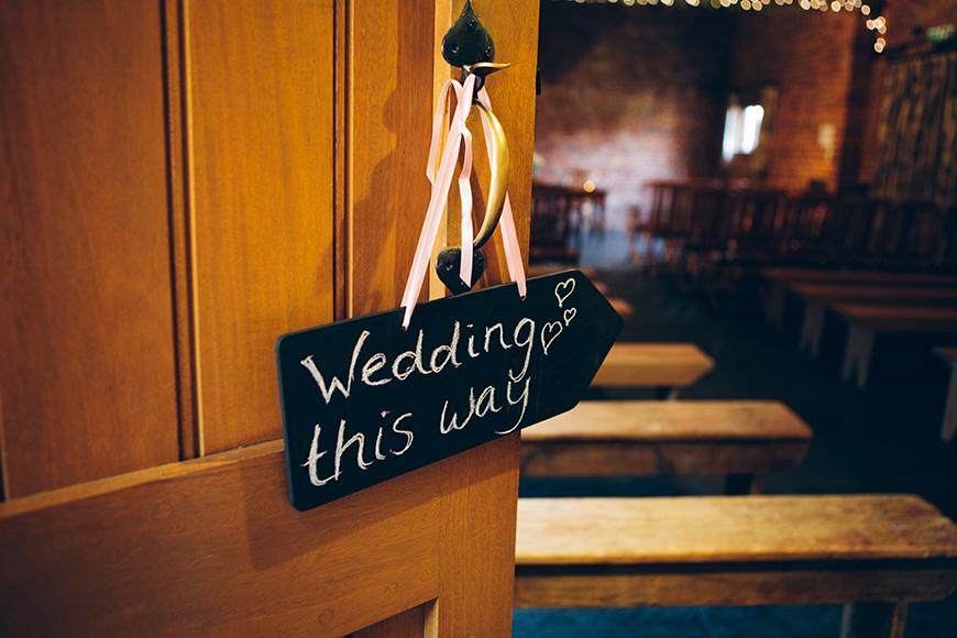 Pretty Pink and Purple Barn Wedding Ideas - Wedding sign   CHWV