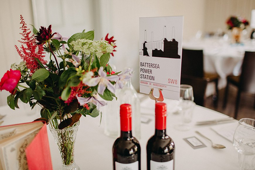 30 Amazing Wedding Table Name Ideas - London's calling | CHWV