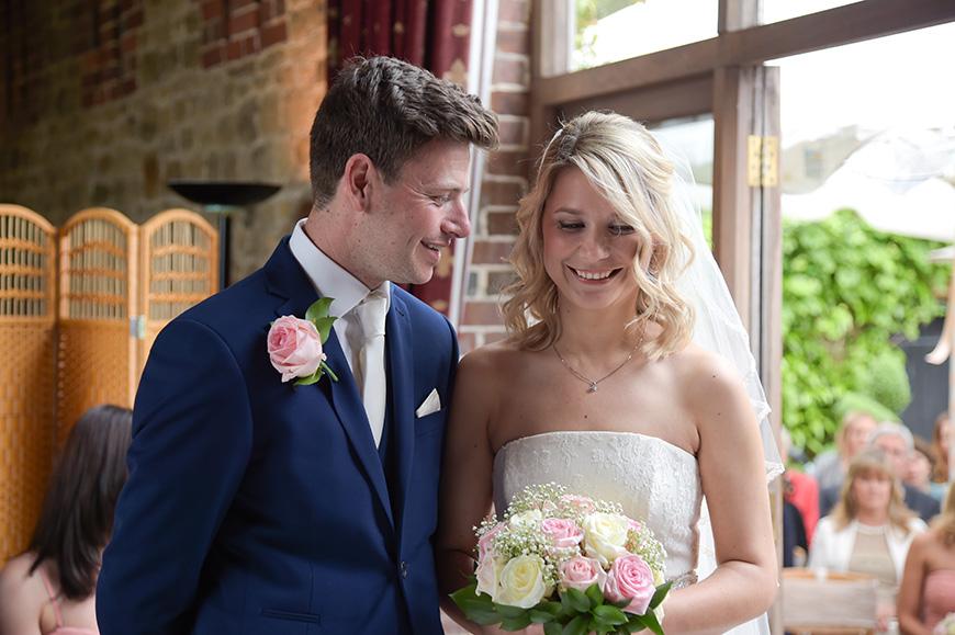 Claudia and Mark's real life wedding at Bartholomew Barn - Ceremony | CHWV