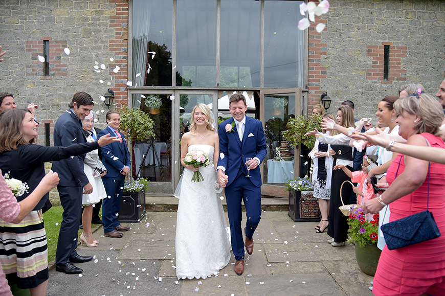 Claudia and Mark's real life wedding at Bartholomew Barn - Confetti | CHWV