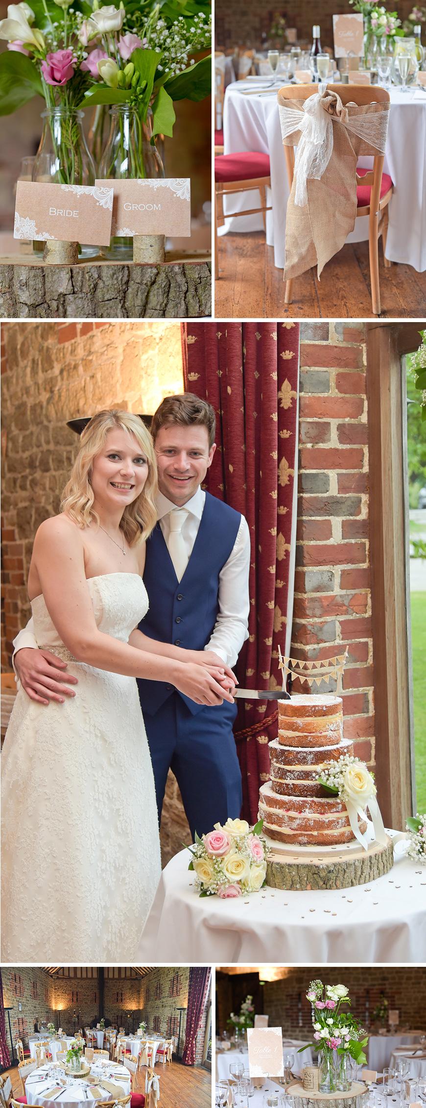 Claudia and Mark's real life wedding at Bartholomew Barn - Wedding Details | CHWV