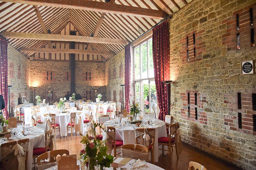 Claudia and Mark's real life wedding at Bartholomew Barn - Wedding breakfast | CHWV