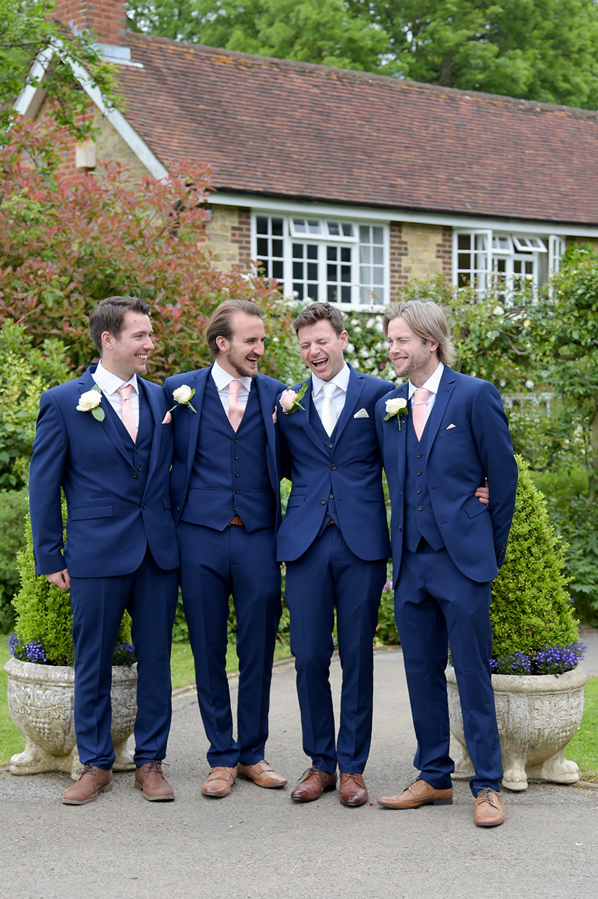Claudia and Mark's real life wedding at Bartholomew Barn - Suits | CHWV