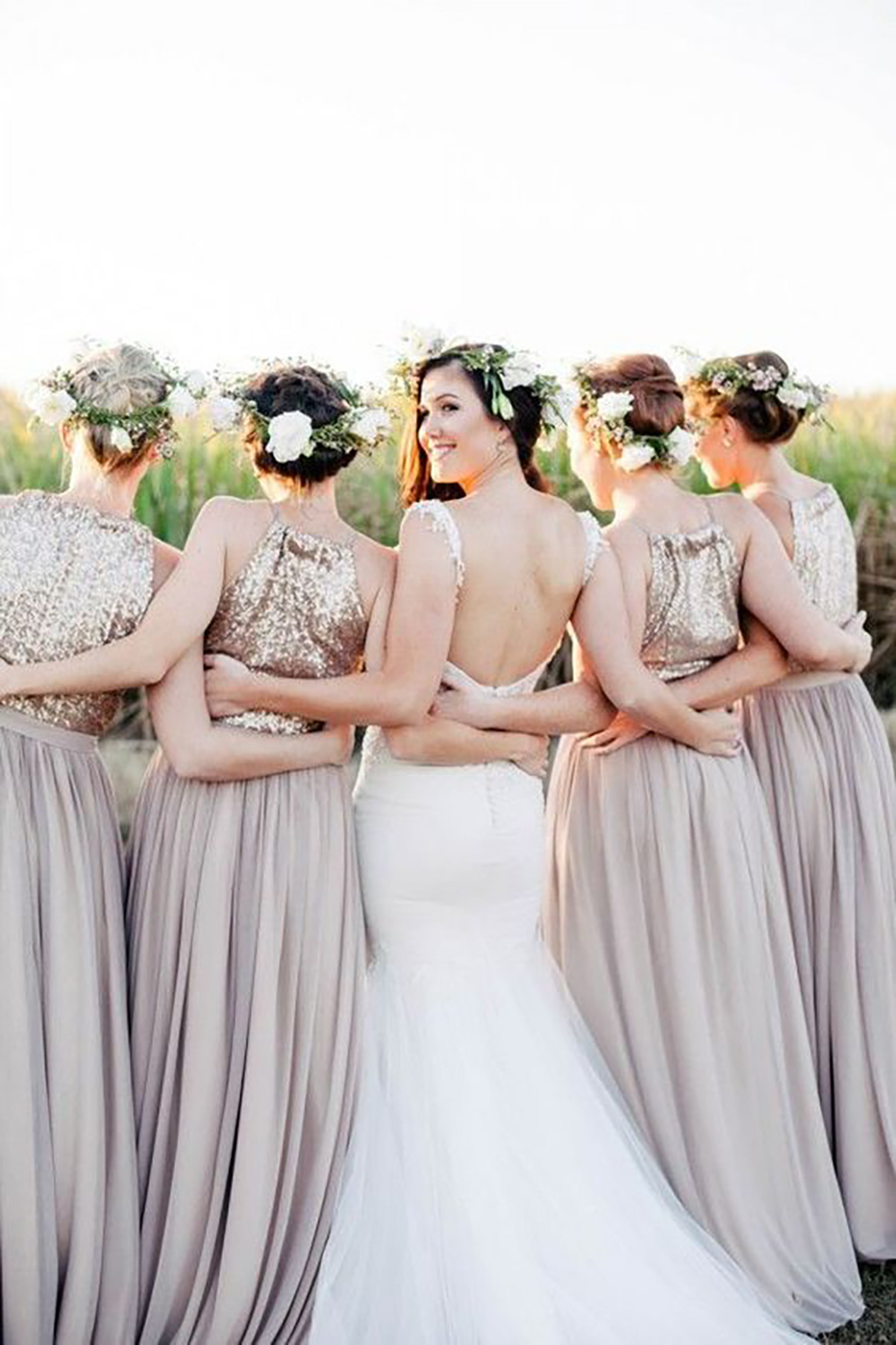 969b6319dd29 Wedding ideas by colour: metallic bridesmaid dresses