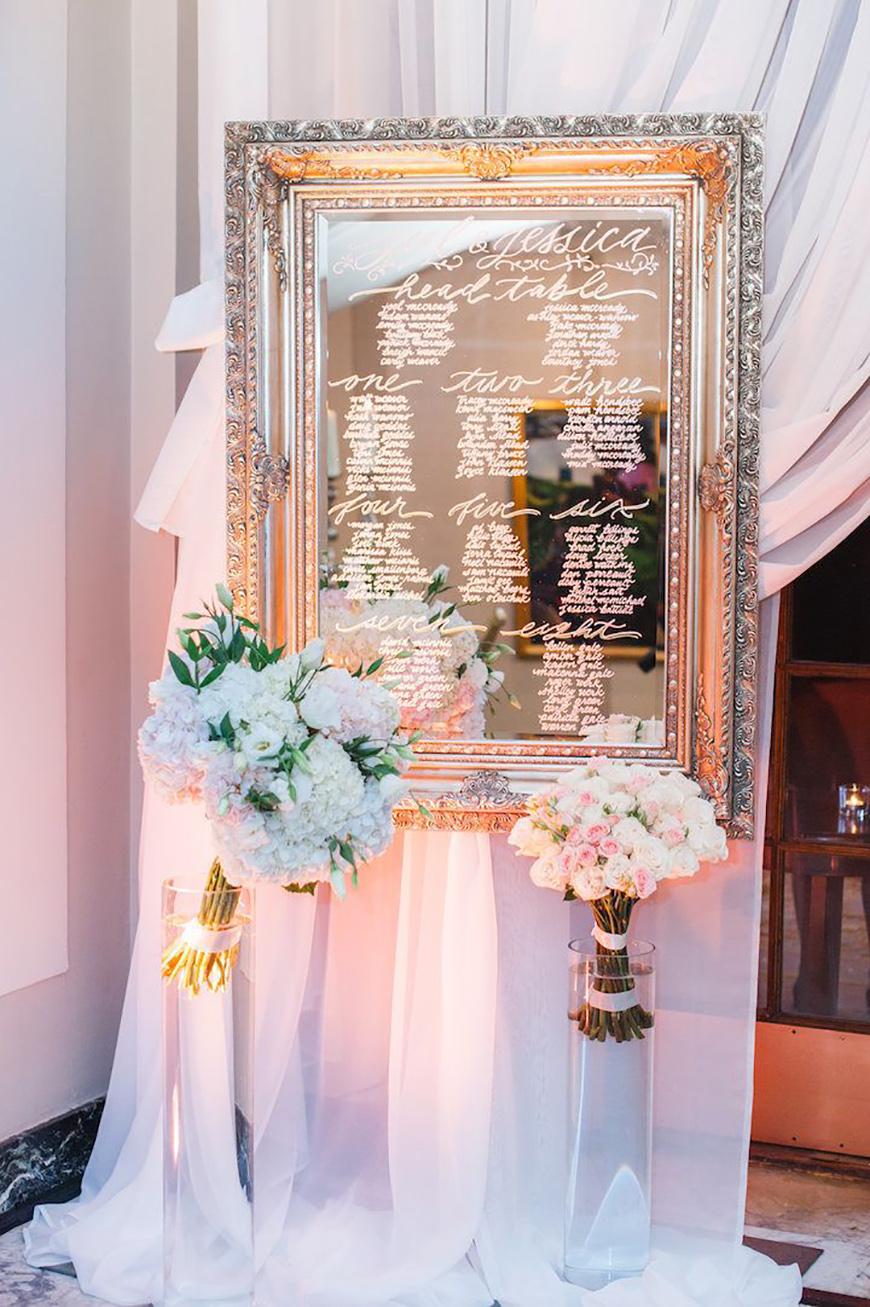 Wedding Ideas By Colour: Metallic Wedding Stationery - Please be seated | CHWV
