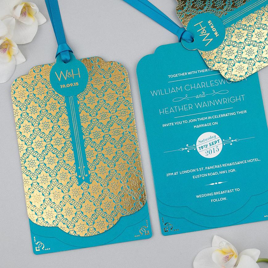 Wedding Ideas By Colour: Metallic Wedding Stationery - You're invited | CHWV