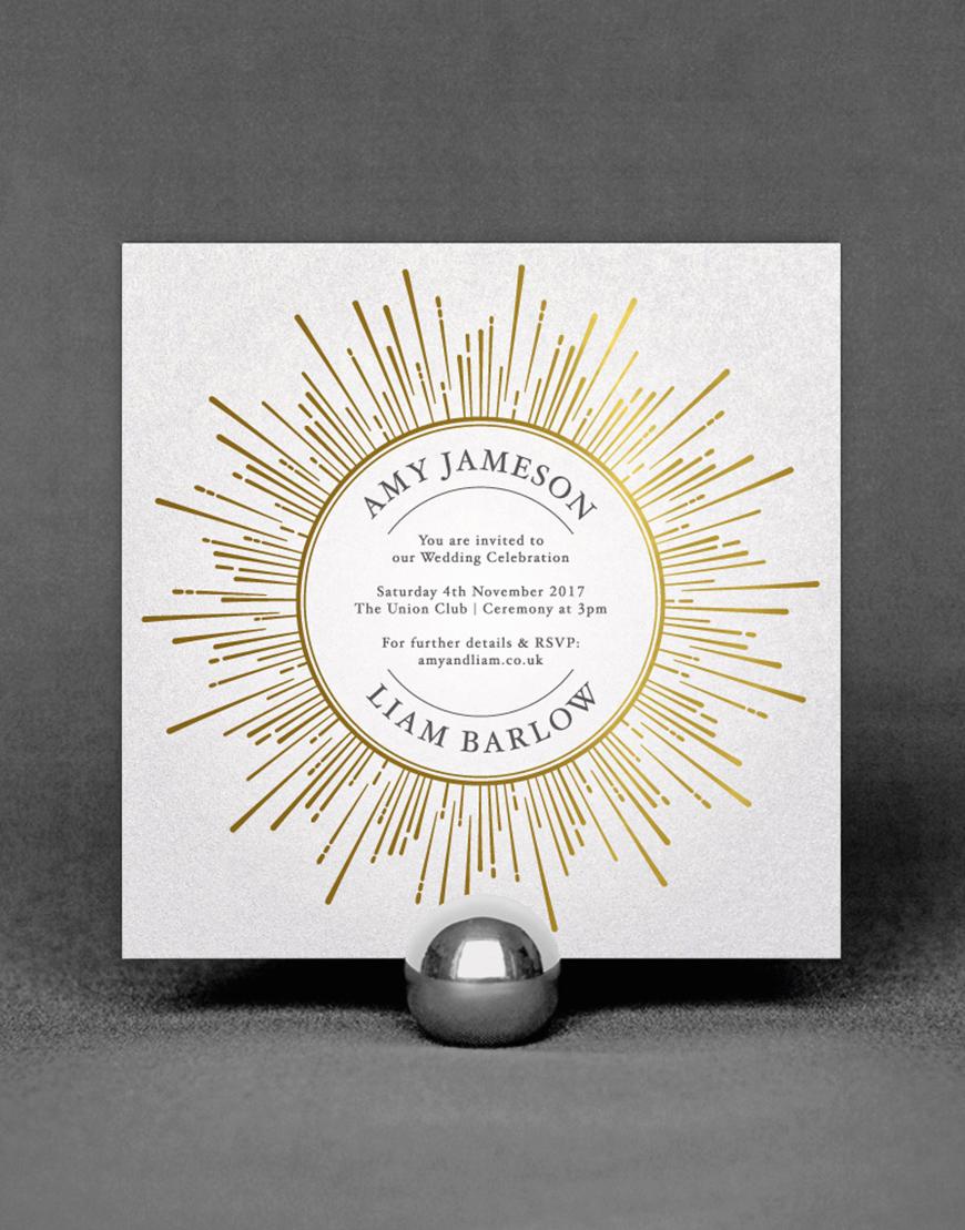 Wedding Ideas By Colour: Metallic Wedding Stationery | CHWV