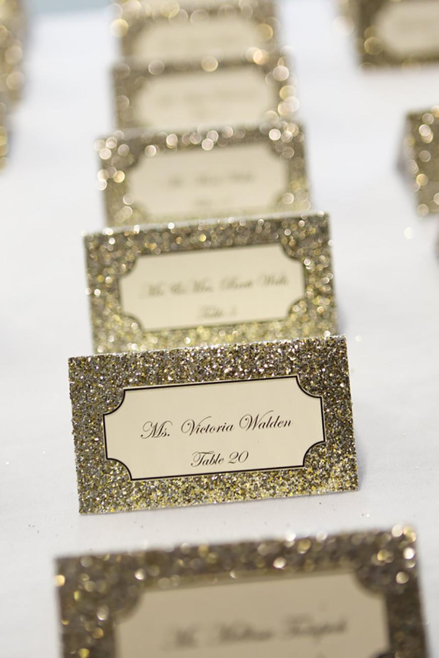 Wedding Ideas By Colour: Metallic Wedding Stationery - Table details | CHWV