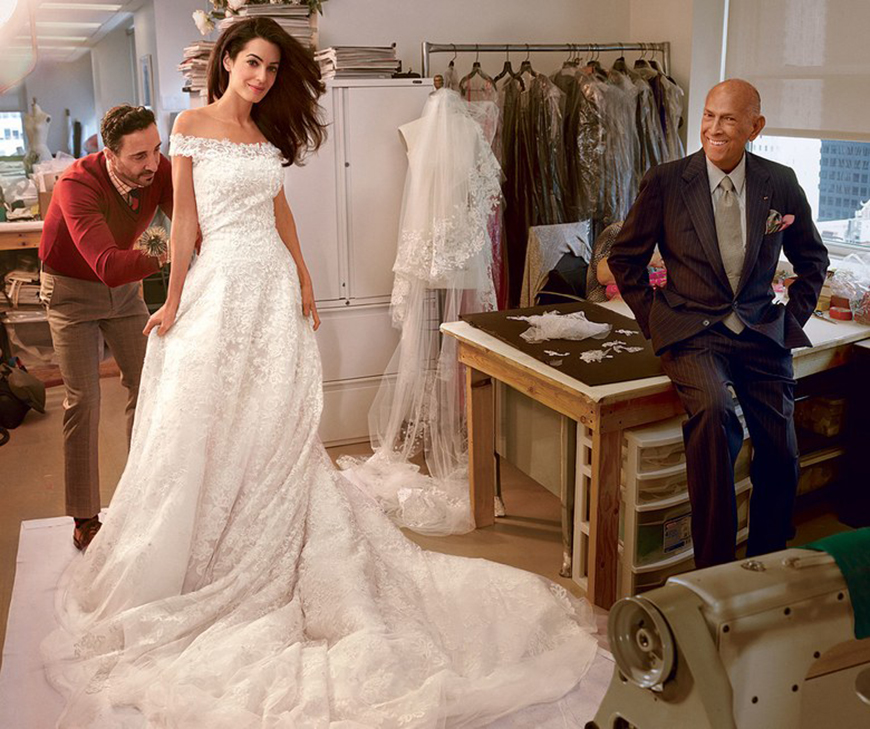 13 Of The Most Expensive Celebrity Wedding Dressess - Amal Clooney | CHWV