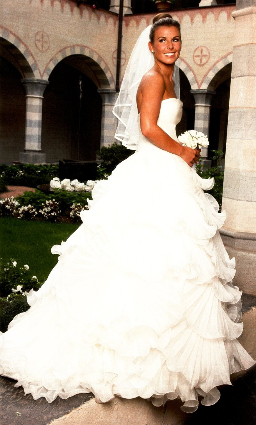 13 Of The Most Expensive Celebrity Wedding Dressess - Colleen Rooney | CHWV
