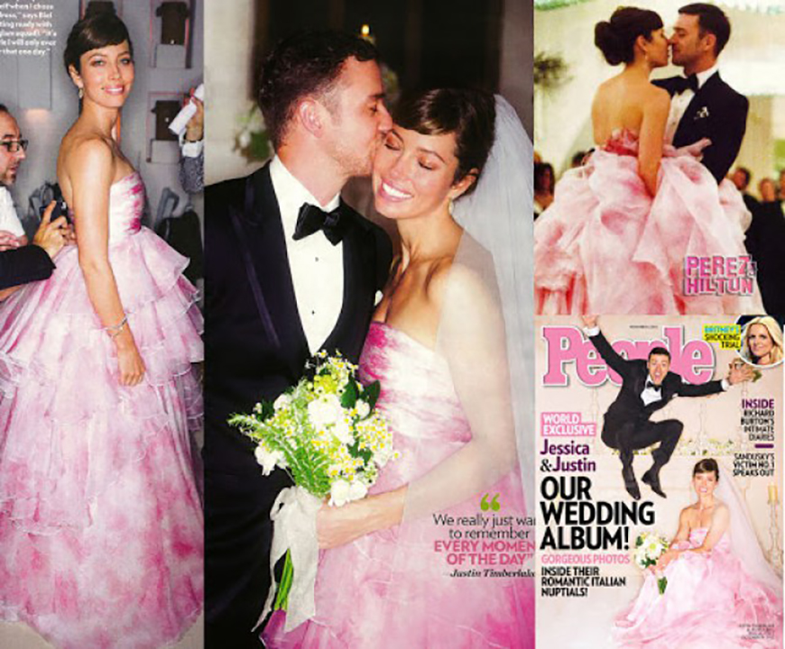 13 Of The Most Expensive Celebrity Wedding Dressess - Jessica Biel | CHWV