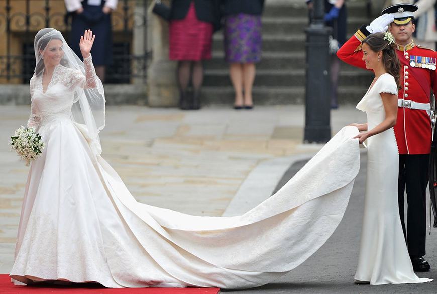 13 Of The Most Expensive Celebrity Wedding Dressess - Kate Middleton | CHWV