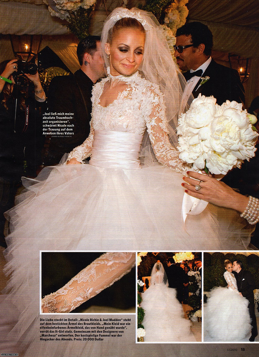 13 Of The Most Expensive Celebrity Wedding Dressess - Nicole Richie | CHWV