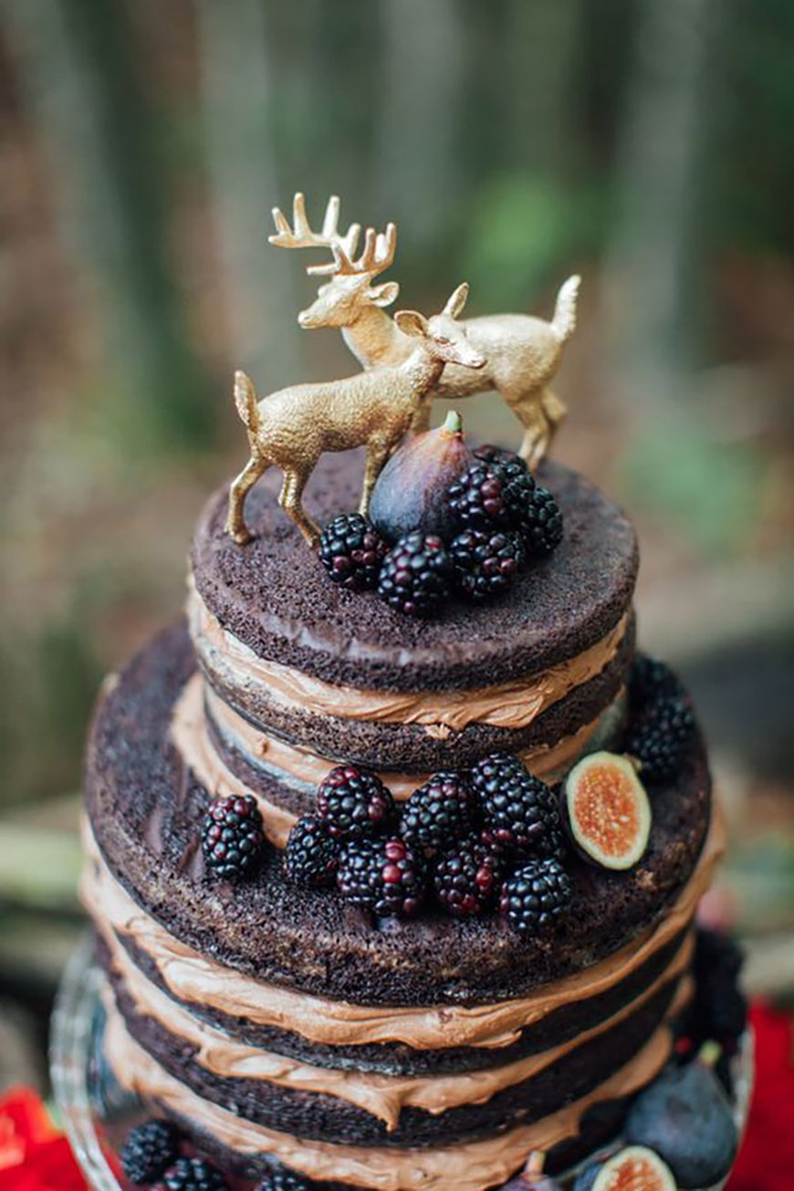 11 of the Best Naked Wedding Cakes | CHWV