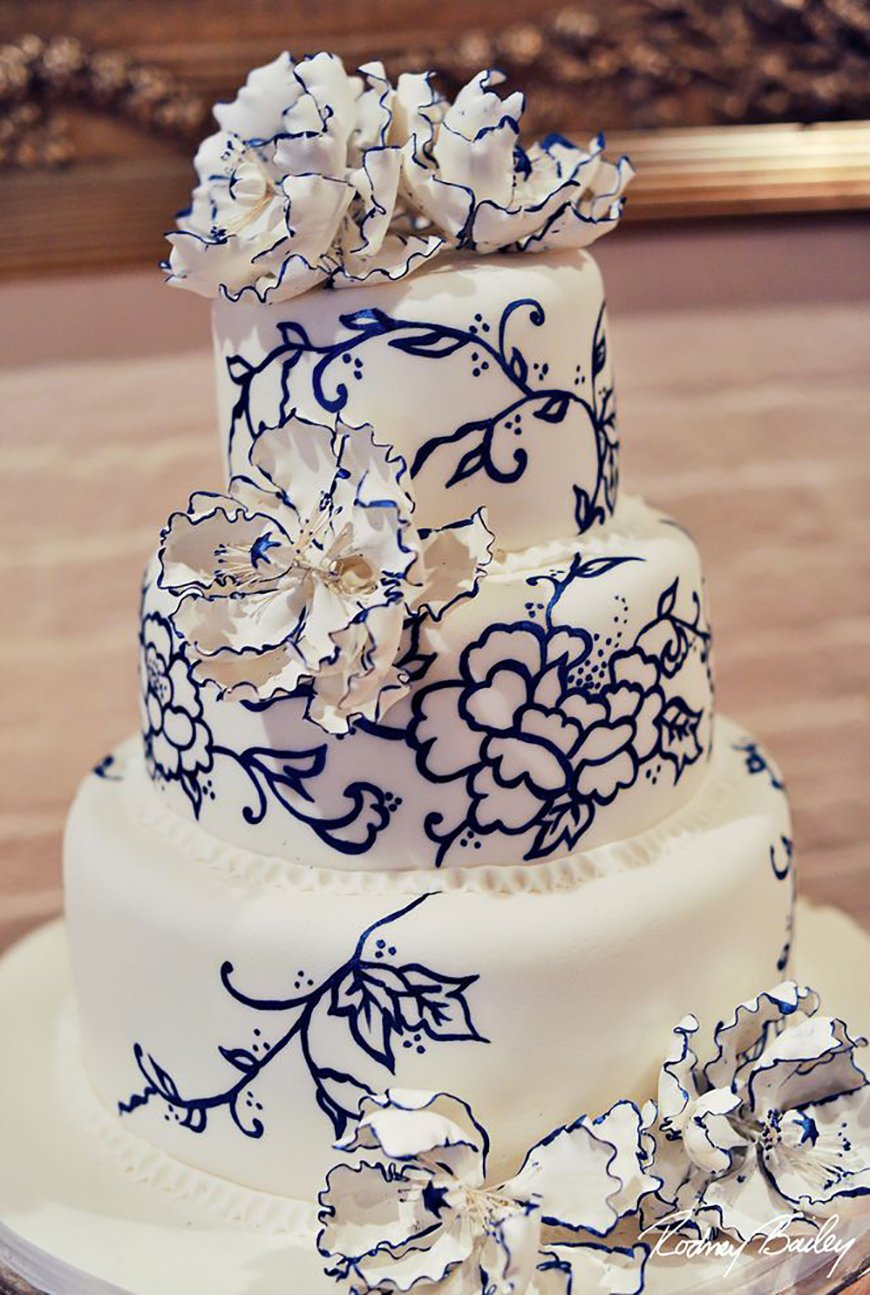 Navy Wedding Cake Decorations Wedding Ideas By Colour CHWV