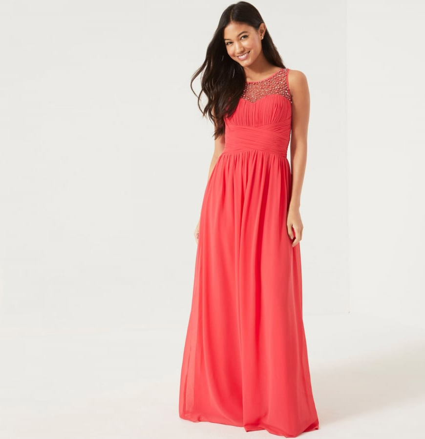 New High-street Bridesmaid Fashion For 2017 - Embellished Maxi dress | CHWV