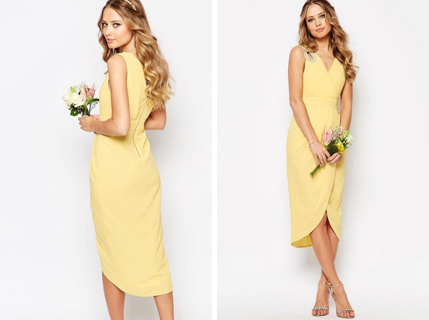 New High-street Bridesmaid Fashion For 2017 - Midi dress | CHWV