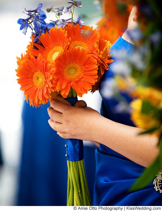 Wedding Ideas by Colour: Orange Wedding Flowers - In the navy | CHWV