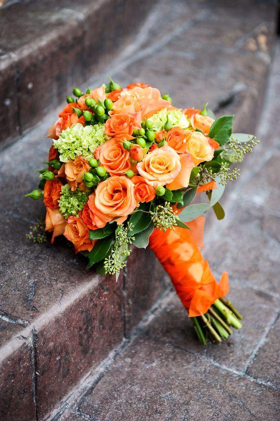 Wedding Ideas by Colour: Orange Wedding Flowers - Pure simplicity | CHWV