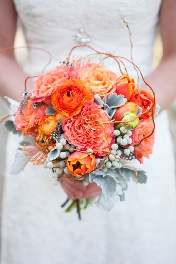 Wedding Ideas by Colour: Orange Wedding Flowers - At one with nature | CHWV