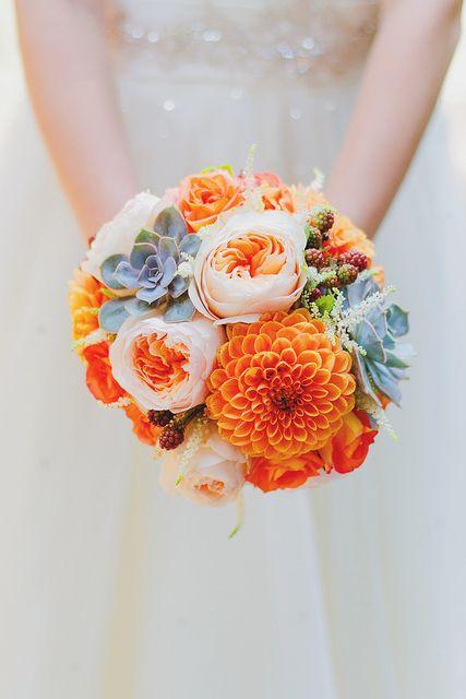Wedding Ideas by Colour: Orange Wedding Flowers - Magnificently | CHWV