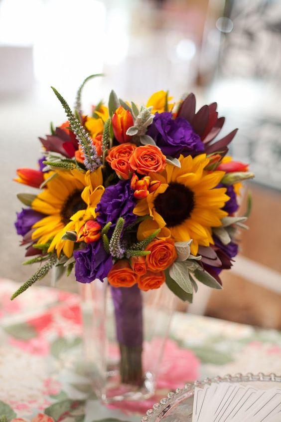 Orange Wedding Flowers | Wedding Ideas by Colour | CHWV
