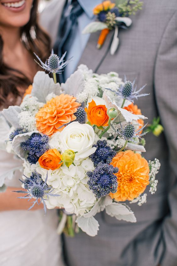 Wedding Ideas by Colour: Orange Wedding Flowers - Cool combinations | CHWV