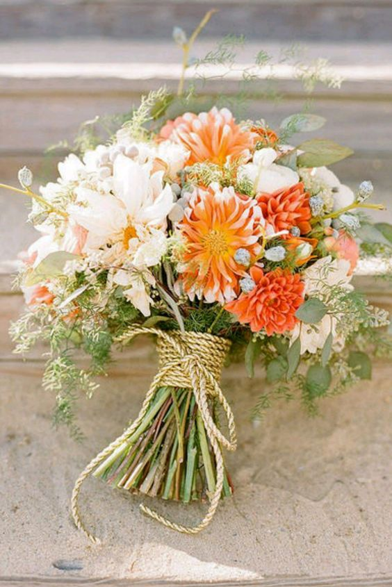 Orange Wedding Flowers Wedding Ideas By Colour Chwv