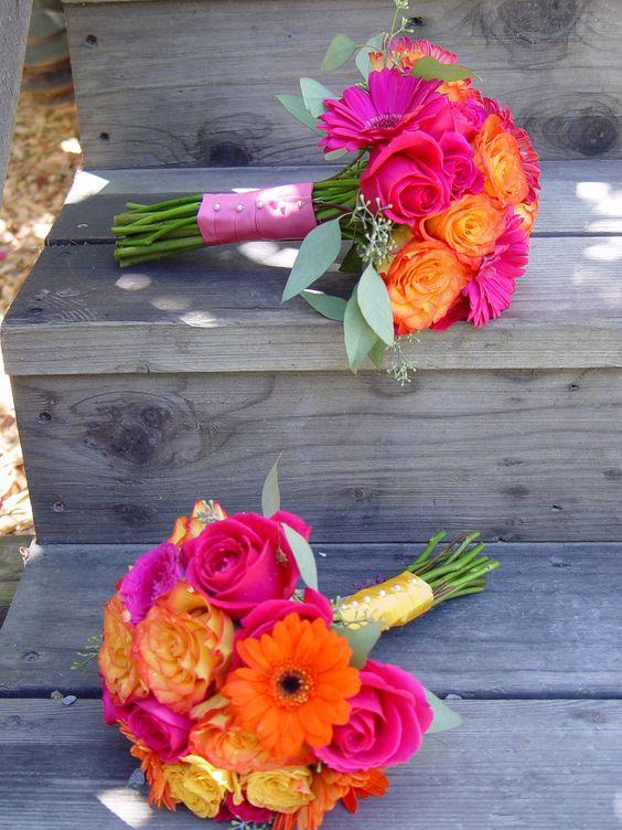 Wedding Ideas by Colour: Orange Wedding Flowers - Tropical shades | CHWV
