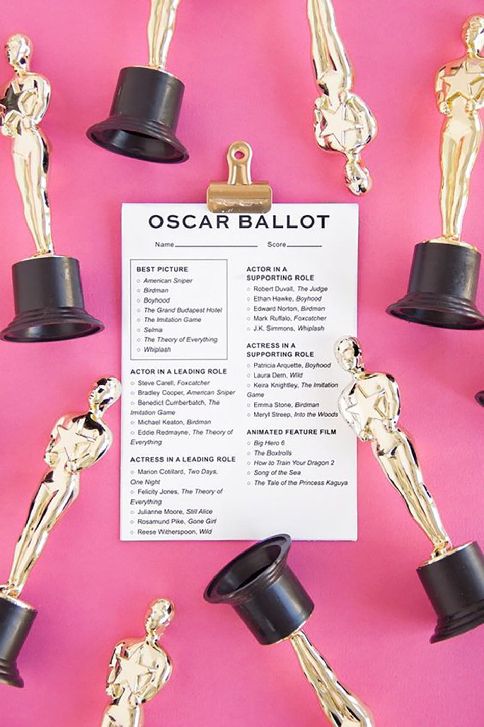 Ways to have an Oscars inspired wedding day
