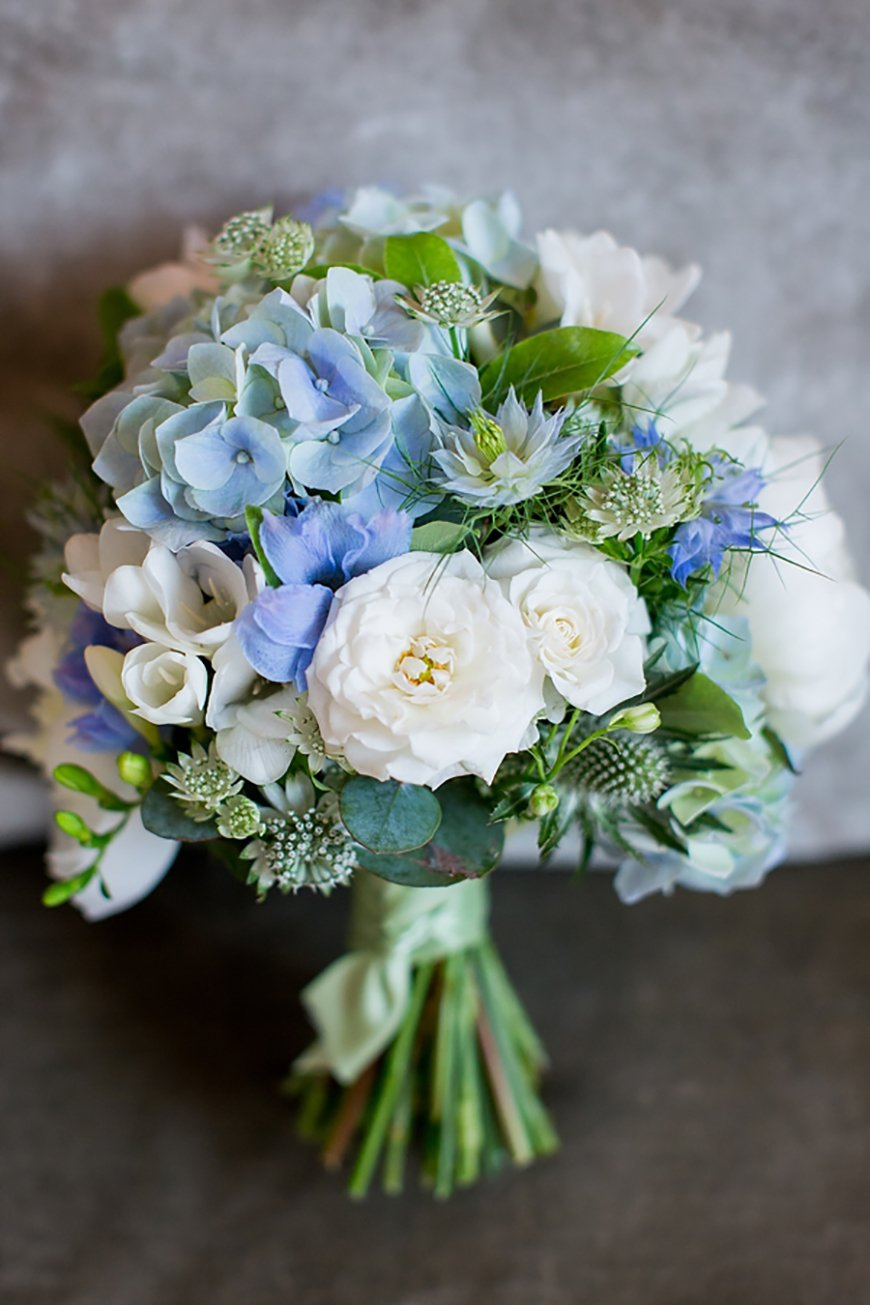 Wedding Ideas By Colour: Pastel Blue Wedding Theme - Fabulous florals | CHWV