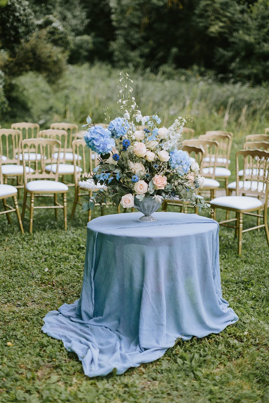 Wedding Ideas By Colour: Pastel Blue Wedding Theme - Saying 'I do' | CHWV