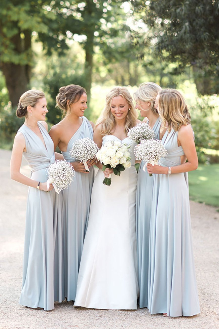 Wedding Ideas By Colour: Pastel Blue Wedding Theme - And the bridesmaids wore | CHWV
