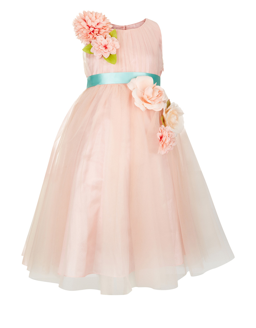 Peach Flowergirl Dresses Wedding Ideas Chwv