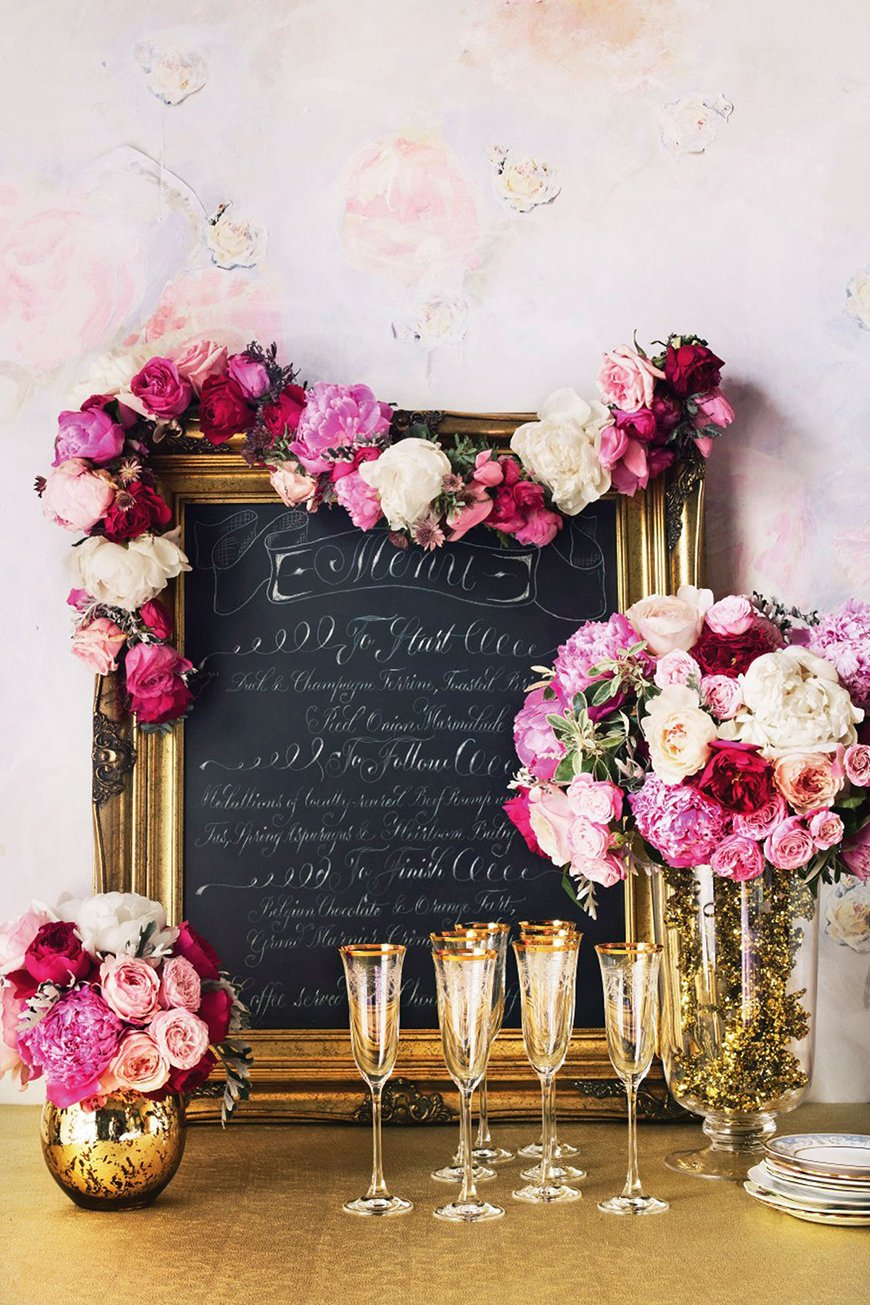 Pink wedding decorations ideas by colour chwv