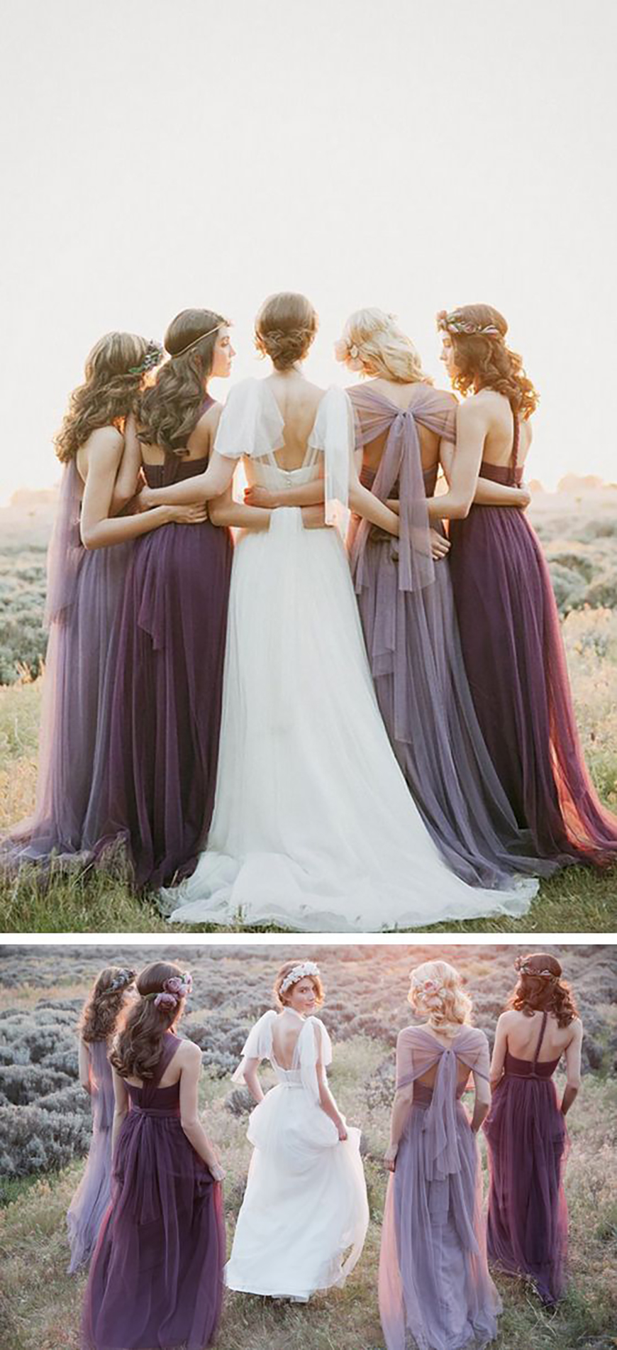 Wedding Ideas by Colour: Purple Bridesmaid Dresses | CHWV