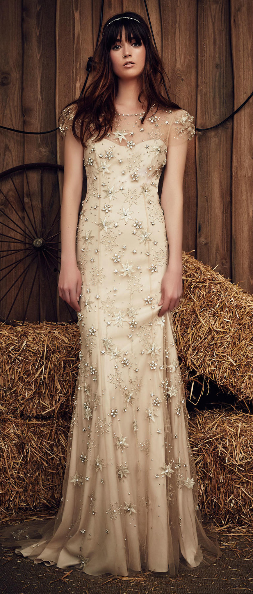 Fashion focus: 2017's top quirky wedding dresses - Gold star | CHWV